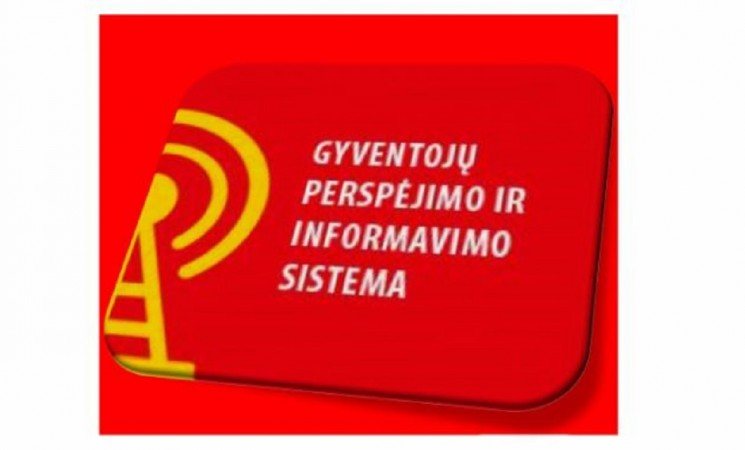 Naudokimės perspėjimo ir informavimo sistemos mobiliajame telefone paslauga
