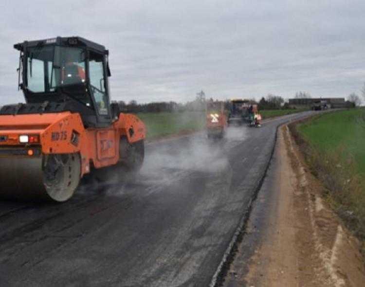 Šių metų asfaltavimo darbai Marijampolėje eina į pabaigą