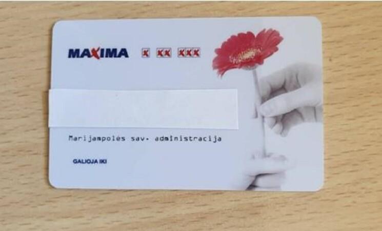 """Su socialine kortele - į prekybos centrą """"Maxima"""""""