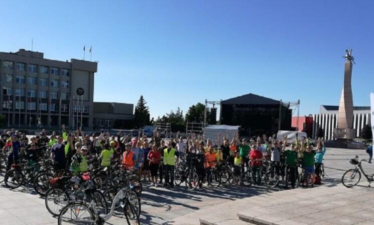 150 dviratininkų mynė Už Marijampolę!